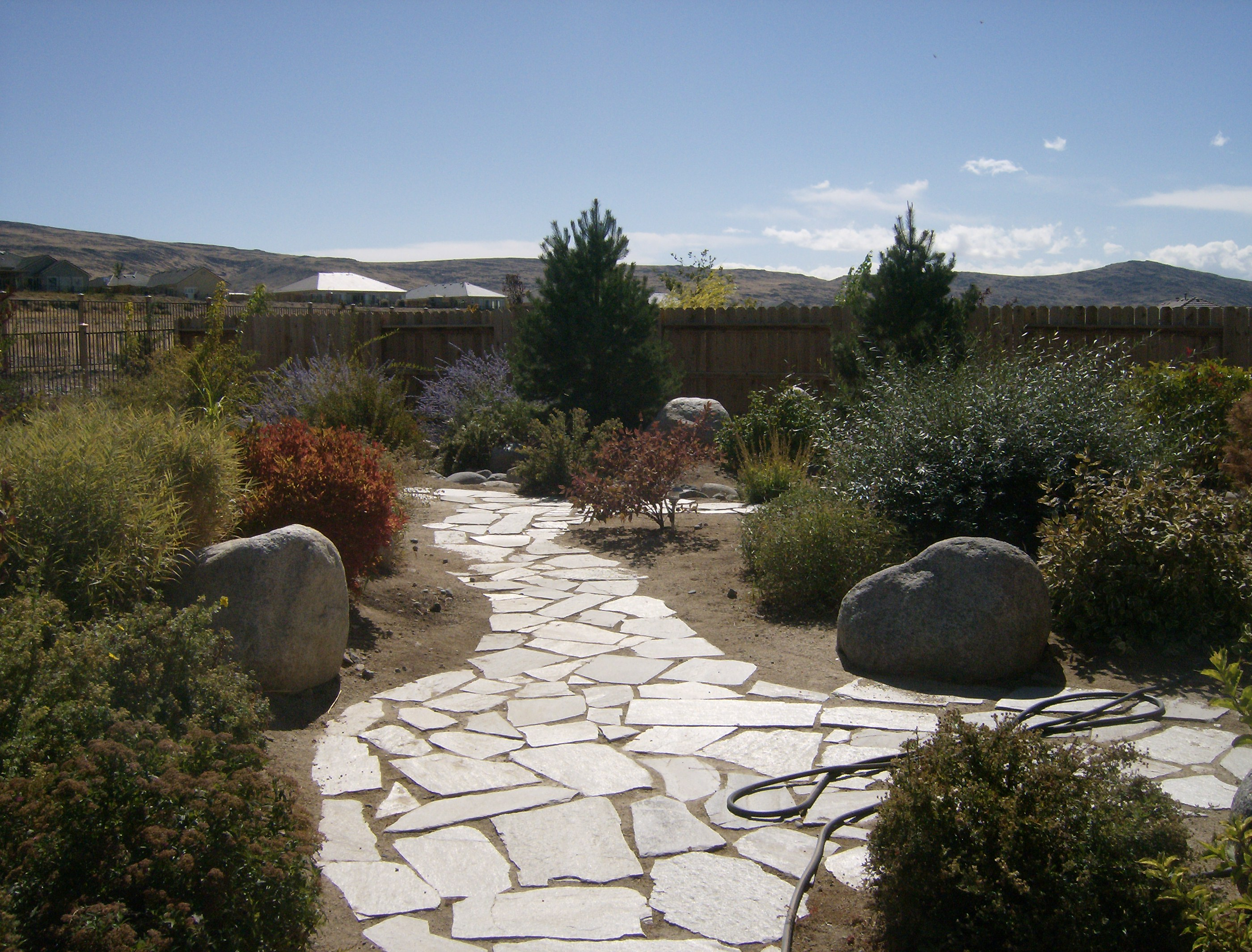More on garden pathways natural stone slabs steve snedekers these workwithnaturefo