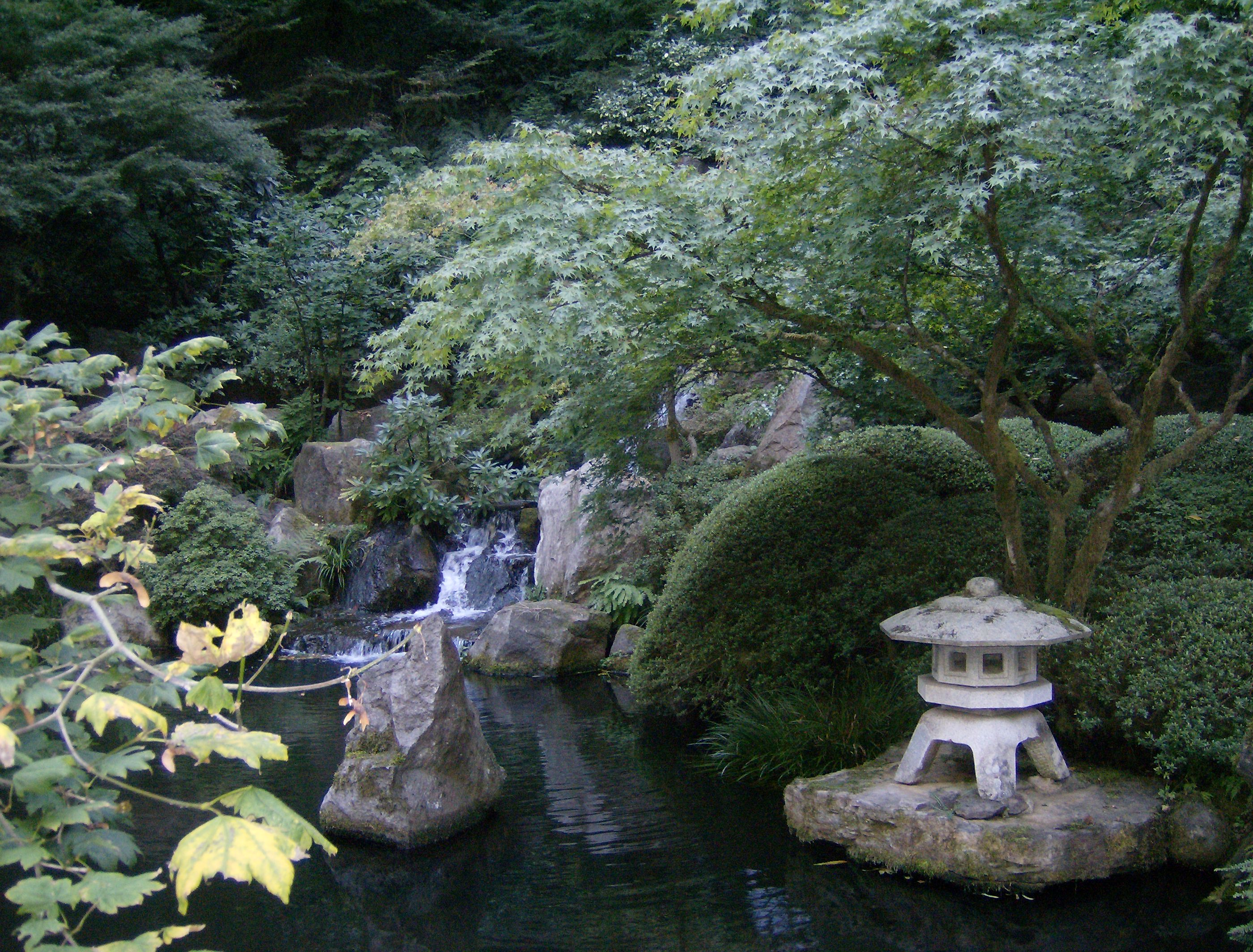 The Japanese Garden. Fortunately .
