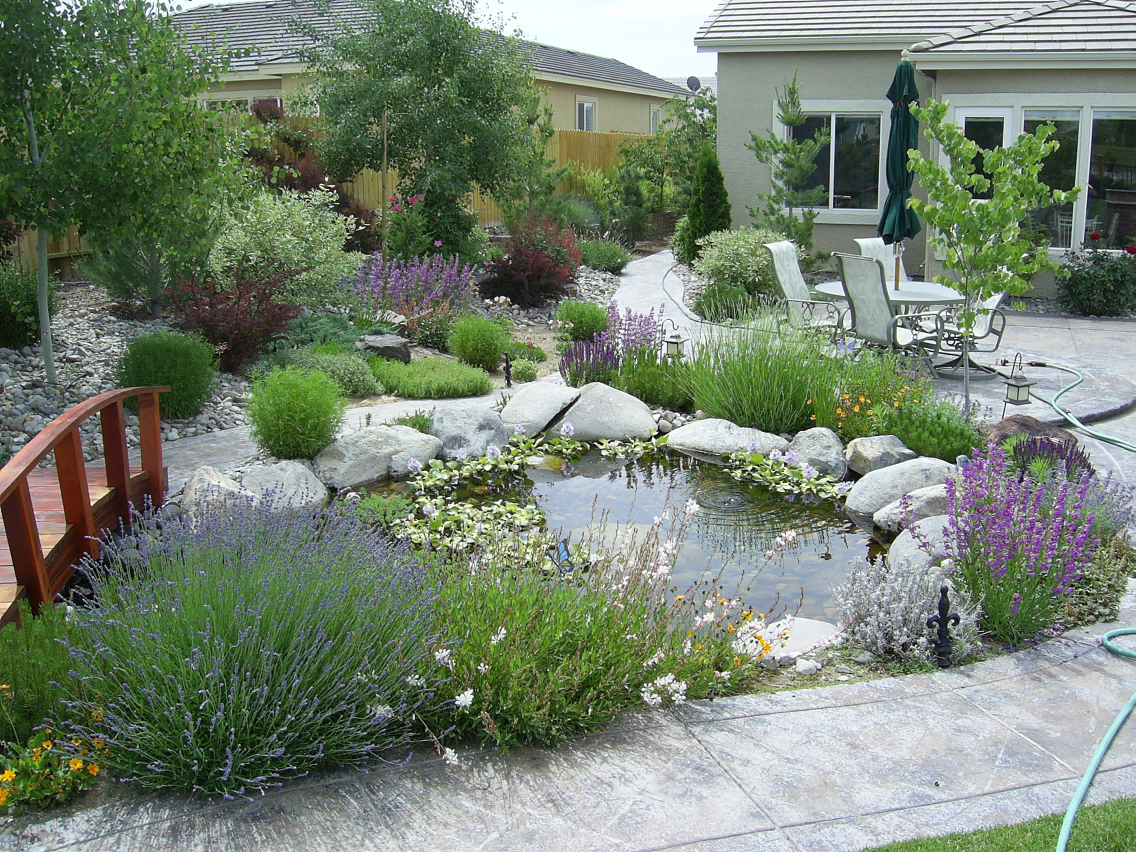 Landscape and garden design implications of water for Garden and design