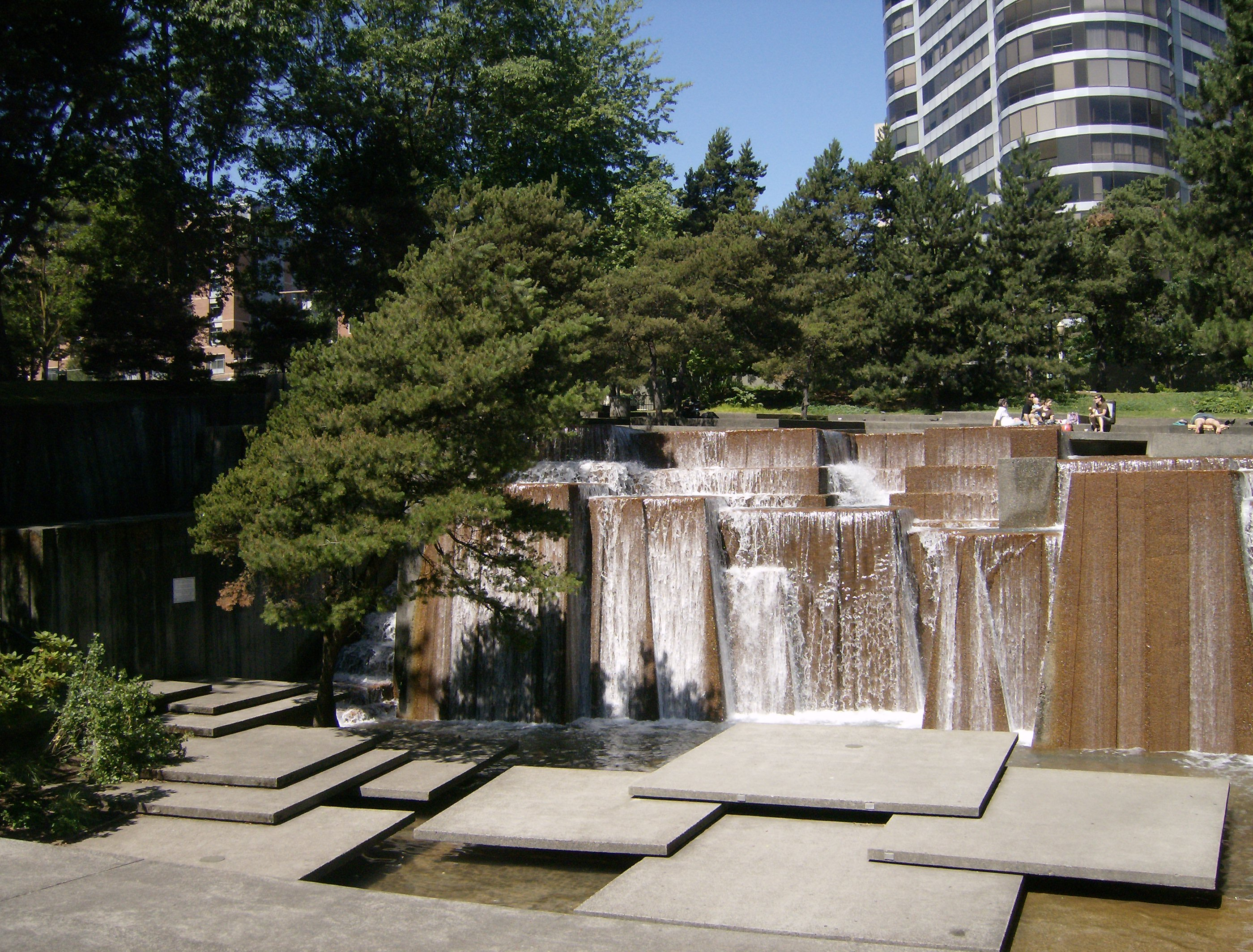 Urban and Modern Waterfalls – Ira's Fountain Portland