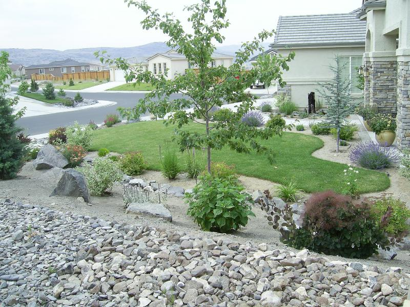 Front garden landscaping images nice plan for Rock garden designs front yard